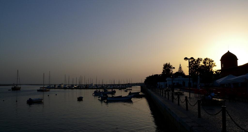 Olhao's harbor